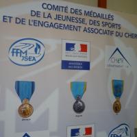 Cérémonie de la remise des médailles du sport, le jeudi 16 novembre 2017