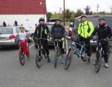 Le froid et la pluie se sont invités à la randonnée VTT d'Automne de l'U.S MEREAU Vélo