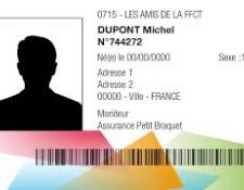 Procédure d'insertion d'une photo d'identité sur votre licence à partir du site web de la FFCT