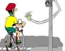 Comportement du Cycliste  envers piétons et feux rouge